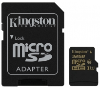 MicroSD 32GB Class 10 UHS-I + SD-adapter